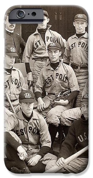 BASEBALL: WEST POINT, 1896 iPhone Case by Granger
