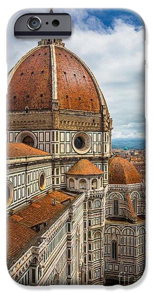 Culture iPhone Cases - Basilica di Santa Maria del Fiore iPhone Case by Inge Johnsson