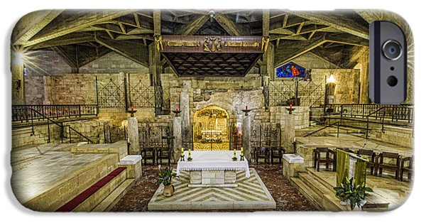 Annunciation iPhone Cases - Basilica of the Annunciation - Nazareth iPhone Case by Stephen Stookey