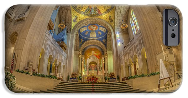 Christ In Majesty iPhone Cases - Basilica of the National Shrine Main Altar iPhone Case by Susan Candelario