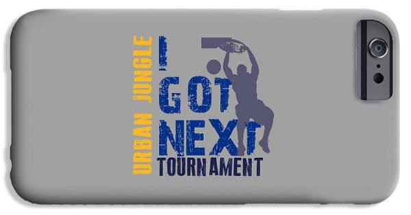 Nba iPhone Cases - Basketball I Got Next 2 iPhone Case by Joe Hamilton