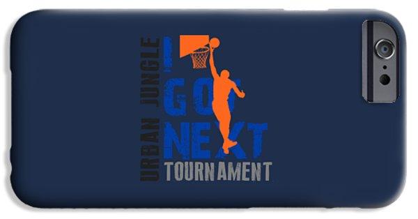 Knicks iPhone Cases - Basketball I Got Next iPhone Case by Joe Hamilton