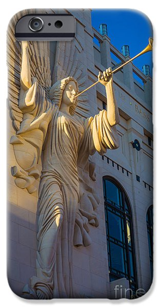 Facade iPhone Cases - Bass Angel iPhone Case by Inge Johnsson