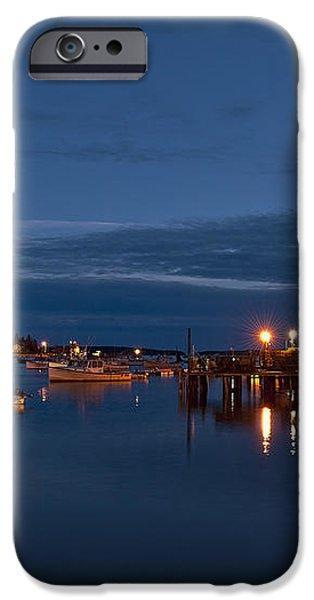 Bass Harbor at night iPhone Case by John Greim