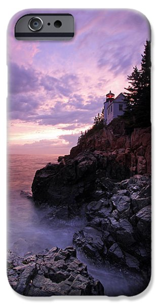 Maine iPhone Cases - Bass Harbor Head Light iPhone Case by Juergen Roth