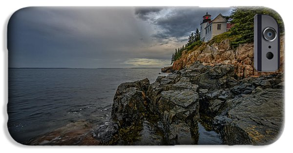 Maine iPhone Cases - Bass Harbor Head Lighthouse At Dawn iPhone Case by Rick Berk