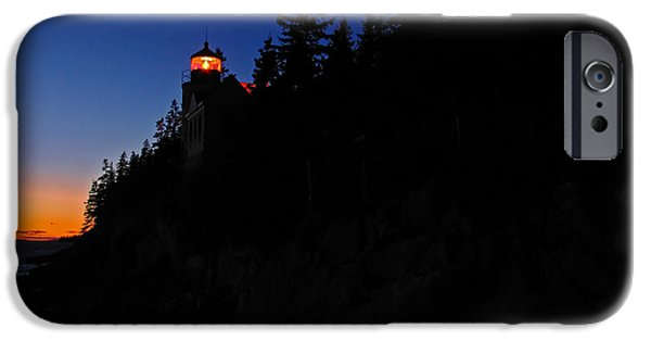 New England Lighthouse iPhone Cases - Bass Harbor Light iPhone Case by Juergen Roth