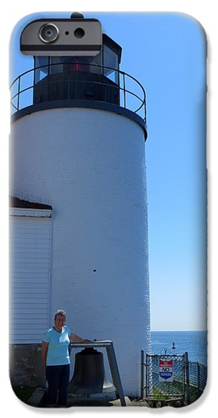 Historic Site iPhone Cases - Bass Harbor Light Station iPhone Case by Cindy Kellogg