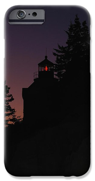 New England Lighthouse iPhone Cases - Bass Harbor Lighthouse iPhone Case by Juergen Roth