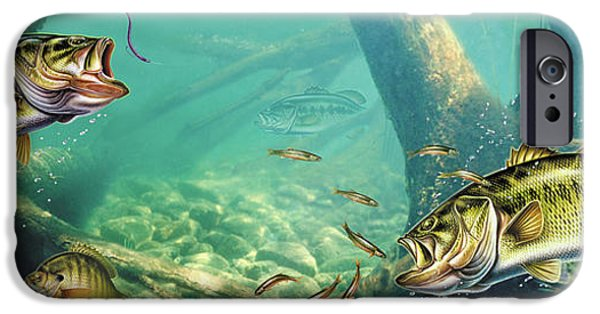 Tackle iPhone Cases - Bass Lake iPhone Case by JQ Licensing
