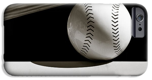 Baseball iPhone Cases - Bat and Ball iPhone Case by Dave Bowman