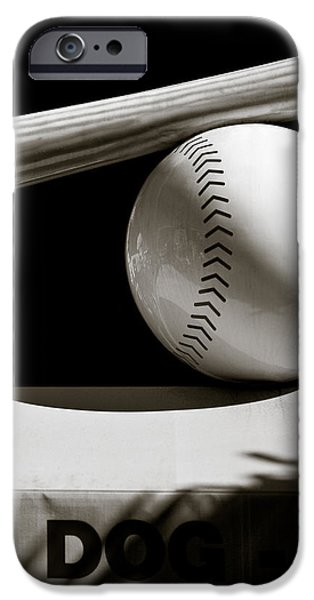 Bat and Ball iPhone Case by Dave Bowman