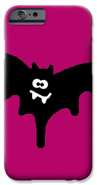 Character Portraits Digital iPhone Cases - Bat iPhone Case by Jera Sky