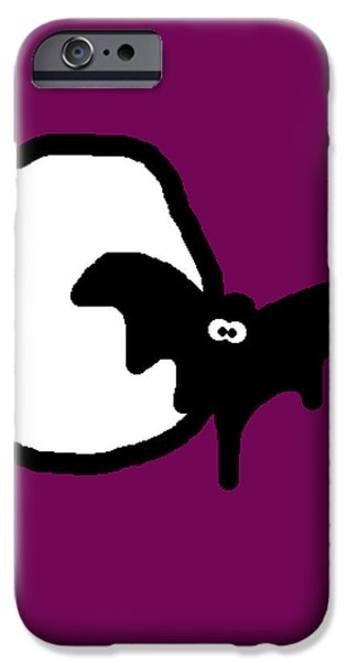 Bat n Moon iPhone Case by Jera Sky
