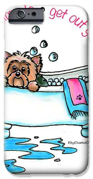 Bath time iPhone Case by Catia Cho