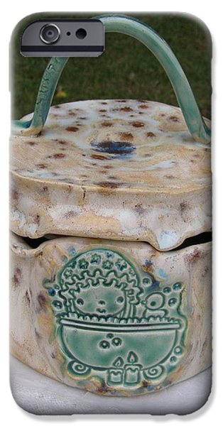 Birds Ceramics iPhone Cases - Bath Time iPhone Case by Sandi Floyd