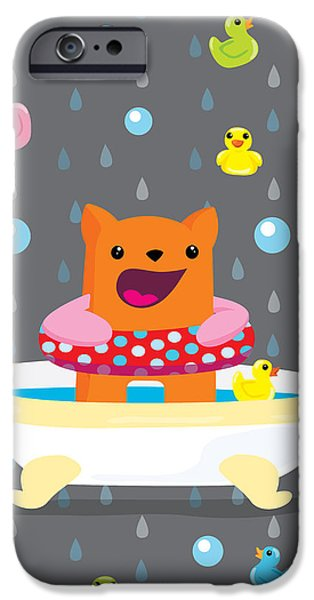 Bath iPhone Cases - Bath time  iPhone Case by Seedys