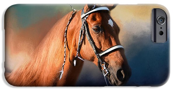 Horse iPhone Cases - Bathed In The Evening Light iPhone Case by Jai Johnson