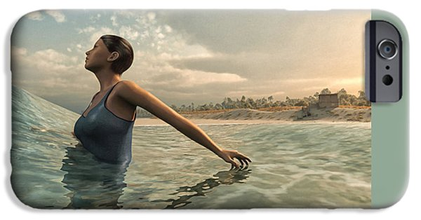 Bathers iPhone Cases - Bather iPhone Case by Cynthia Decker