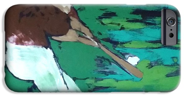 Printmaking iPhone Cases - Batter Up iPhone Case by Veronica Verdugo-Lomeli