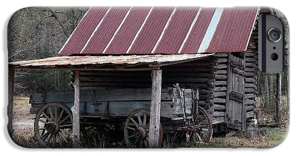 Rustic Barns iPhone Cases - Battered Barn - Digital Art iPhone Case by Al Powell Photography USA
