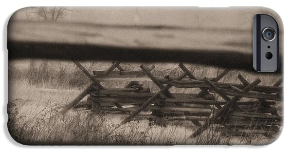 War iPhone Cases - Batterfield Fence iPhone Case by Edna Weber