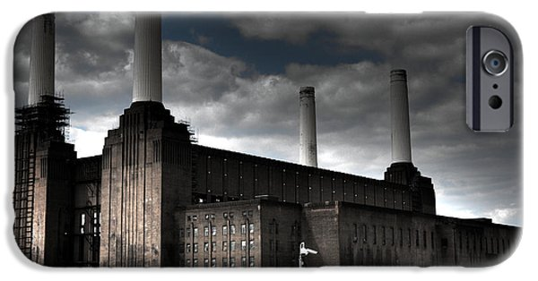 Beatles iPhone Cases - Battersea Power Station iPhone Case by Roddy Atkinson