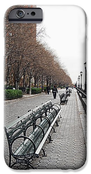 Battery Park iPhone Case by Michael Peychich