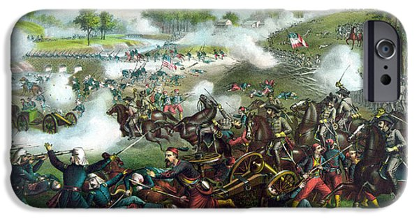 History iPhone Cases - Battle Of Bull Run iPhone Case by War Is Hell Store