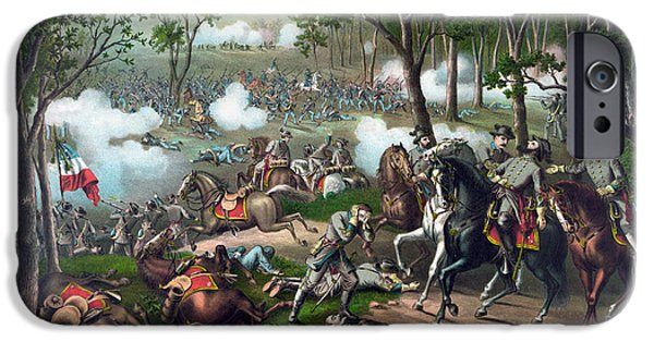 War iPhone Cases - Battle of Chancellorsville - Death Of Stonewall iPhone Case by War Is Hell Store