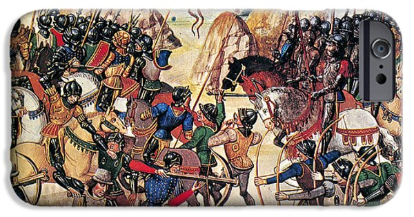 Weapon iPhone Cases - Battle Of Crecy, 1346 iPhone Case by Granger
