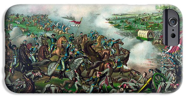 American History Mixed Media iPhone Cases - Battle of Five Forks iPhone Case by War Is Hell Store