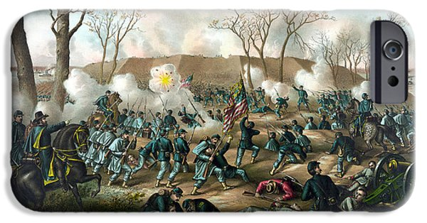 History iPhone Cases - Battle of Fort Donelson iPhone Case by War Is Hell Store