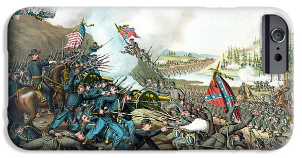 American History Mixed Media iPhone Cases - Battle Of Franklin iPhone Case by War Is Hell Store