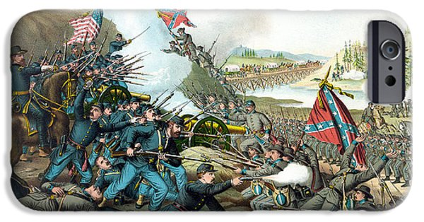 Civil War Mixed Media iPhone Cases - Battle Of Franklin - Civil War iPhone Case by War Is Hell Store