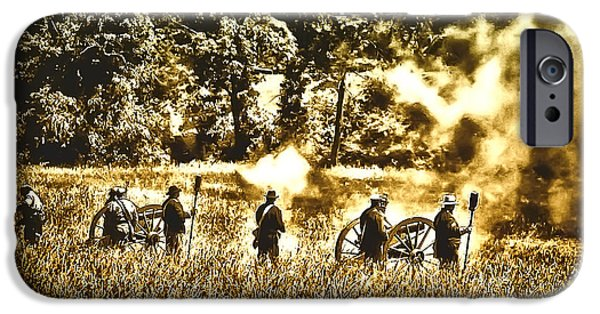 Gettysburg Digital iPhone Cases - Battle of Gettysburg iPhone Case by Bill Cannon