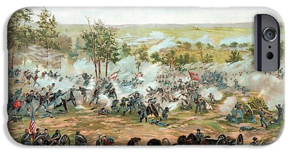 History Mixed Media iPhone Cases - Battle of Gettysburg iPhone Case by War Is Hell Store