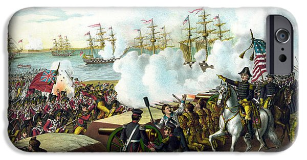 History Mixed Media iPhone Cases - Battle of New Orleans iPhone Case by War Is Hell Store