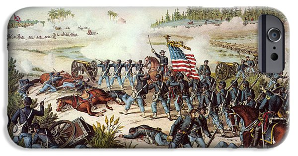 Old Glory iPhone Cases - Battle Of Olustee, 1864 iPhone Case by Granger