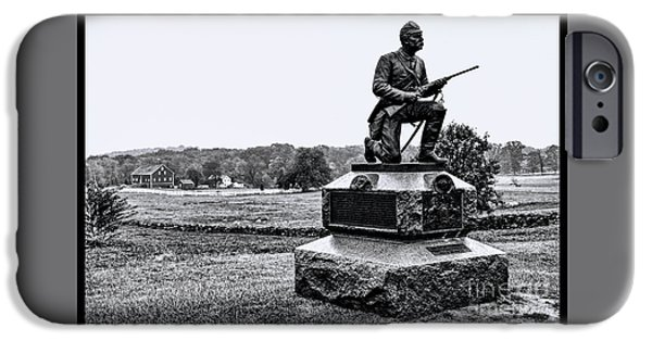 War iPhone Cases - Battlefield at Gettysburg  iPhone Case by Tommy Anderson
