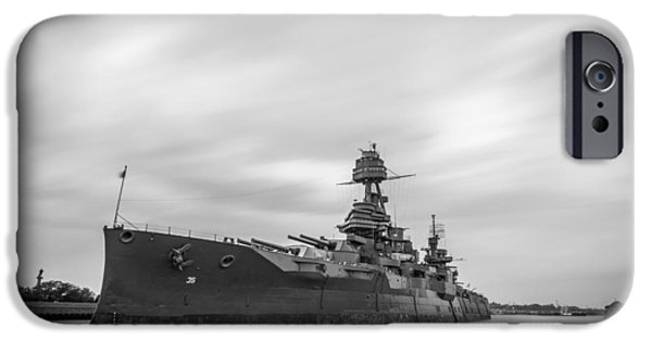 Historic Site iPhone Cases - Battleship Texas iPhone Case by Todd Aaron