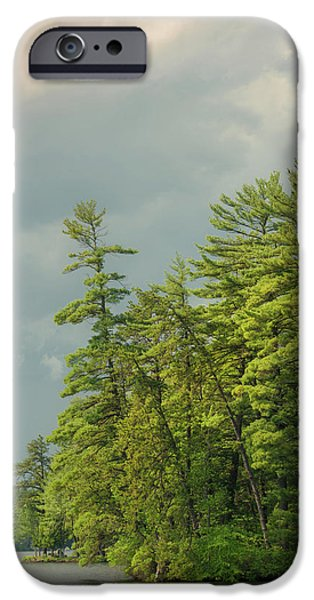 Lake Front iPhone Cases - Bauneg Beg iPhone Case by Joseph Smith
