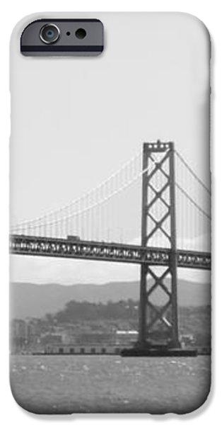 Bay Bridge in Black and White iPhone Case by Carol Groenen