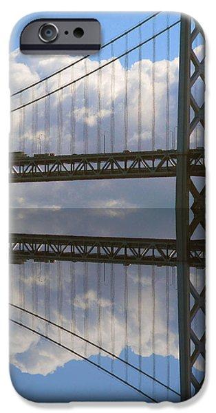 Bay Bridge iPhone Cases - Bay bridge S F iPhone Case by Tina M Wenger