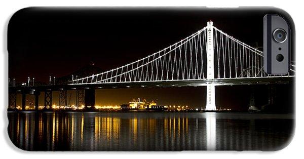 Bay Bridge iPhone Cases - Bay Bridge San Francisco California iPhone Case by ELITE IMAGE photography By Chad McDermott