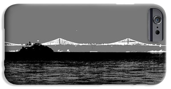 Bay Bridge Mixed Media iPhone Cases - Bay Bridge San Francisco iPhone Case by Kip Vidrine