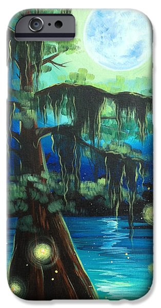 Recently Sold -  - Fog Mist iPhone Cases - Bayou Blues iPhone Case by Kelly Boyett