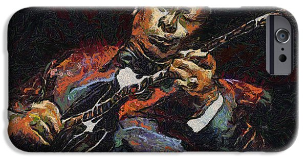 B.b.king iPhone Cases - BB King iPhone Case by Anthony Caruso