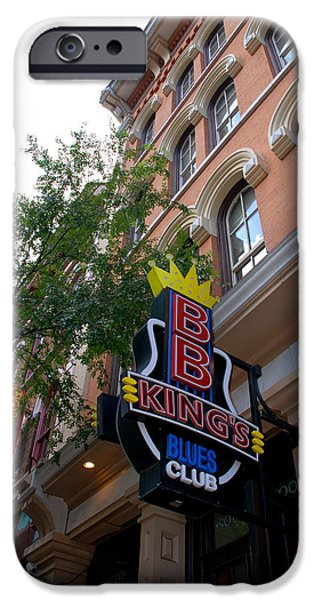 Nashville Architecture iPhone Cases - BB King Bar Nashville iPhone Case by Susanne Van Hulst