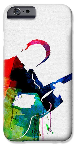 B.b.king iPhone Cases - B.B. King Watercolor iPhone Case by Naxart Studio